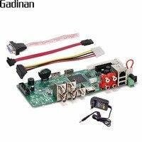 GADINAN 4 Channel AHD H 1080P AHD DVR Video Recorder AHD/TVI/CVI/CVBS/IP 5 In 1 Hybrid Security CCTV DVR NVR Board ONVIF XMEye