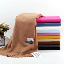 TagerWilen Luxury Brand Winter Scarf Unisex 2019 Female Male Wool Sky Cashmere Scarf Pashmina Tassels Women Men Wrap Shawl cheap Adult Fashion Scarves 175cm Solid TS-26