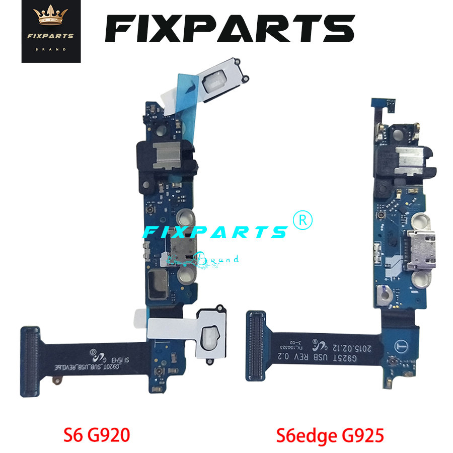 S5 For <font><b>Samsung</b></font> <font><b>Galaxy</b></font> <font><b>S6</b></font> Edge G925F USB Charging Port Flex Cable Dock Connector For <font><b>Samsung</b></font> <font><b>S6</b></font> Plus G928 G920F Charger <font><b>Board</b></font> image