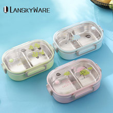 Lunch Box For Kids Carton Japanese 304 Stainless Steel Bento Leak-Proof Children Food Container