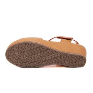 Image 4 - BEYARNE2019 Summer Shoes Women Wedge Sandals Summer Ladies Wedges Shoes Casual Female Sandalias Plus SizeE579