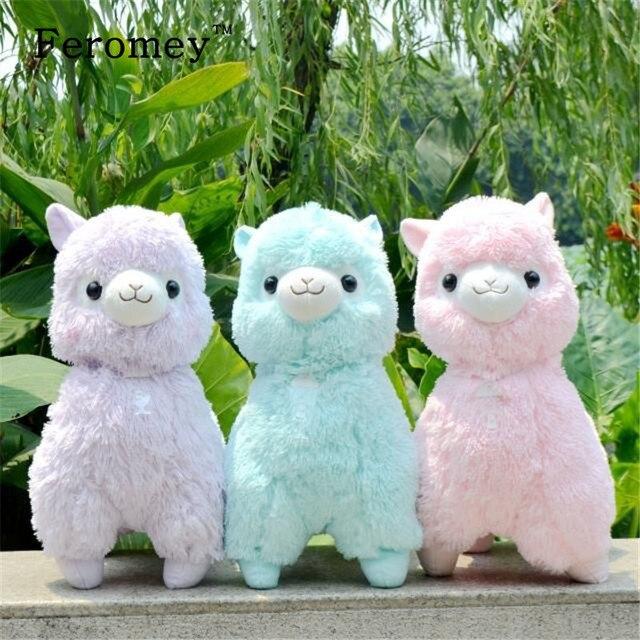 35 cm/45 centímetros Japonês Alpacasso Brinquedos de Pelúcia Boneca Macia Bichos de pelúcia Gigantes Lama Brinquedos Kawaii Boneca De Pelúcia Alpaca presente de Aniversário para crianças