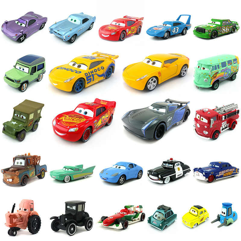 Disney Pixar Cars 3 27Styles Lightning McQueen Mater Jackson Storm Ramirez 1:55 Diecast Metal Alloy Model Toy Car Gift For Kids