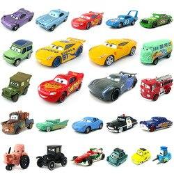 Disney pixar carros 3 27 estilos relâmpago mcqueen mater jackson tempestade ramirez 1:55 diecast liga de metal modelo de carro brinquedo presente para crianças