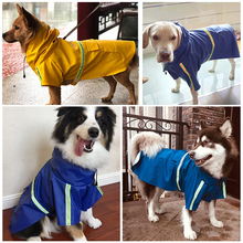 New Large Dogs Raincoat For Pet Waterproof Dog Coat Jacket Reflective Dog Raincoat Pet Clothes For Small Medium Labrador S-5XL
