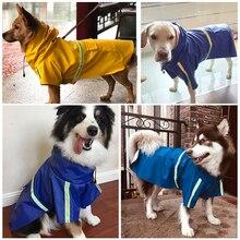 New Large Dogs Raincoat For Pet Waterproof Dog Coat Jacket Reflective Clothes Small Medium Labrador S-5XL