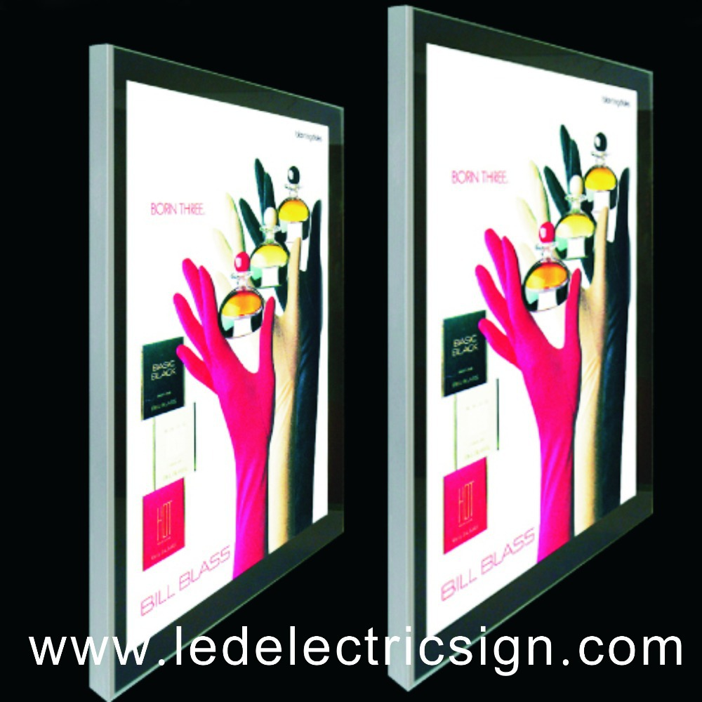 Aluminum Backlit Snap Frame LED Slim Light Box-in Advertising Lights ...
