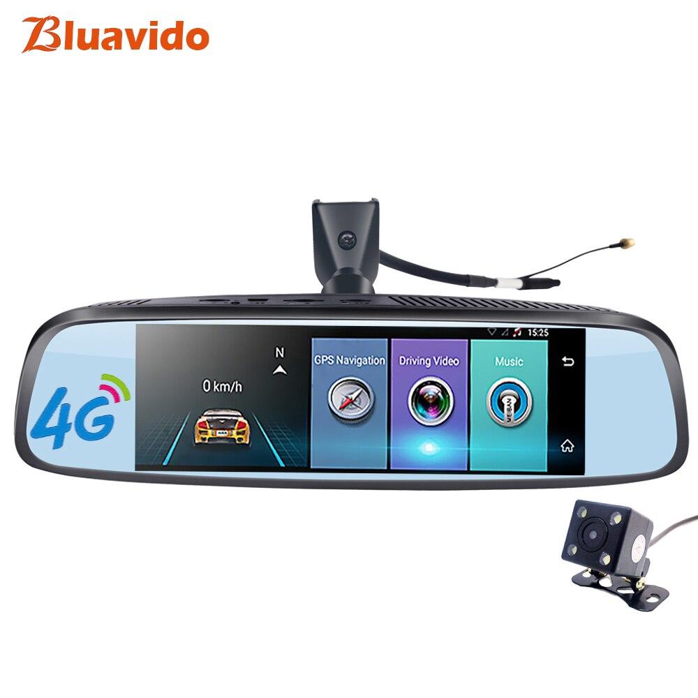 Bluavido 4G 8,0 автомобиля зеркало заднего вида DVR gps навигации ADAS Full HD 1080p видео камера регистраторы Bluetooth Wi Fi 16G ROM Dashcam