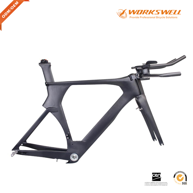 Carbon TT frame timetrial bike frame Carbon aero bicycle frame Workswell triathlon bicycle frame 49/52/54/56mm Free shipping