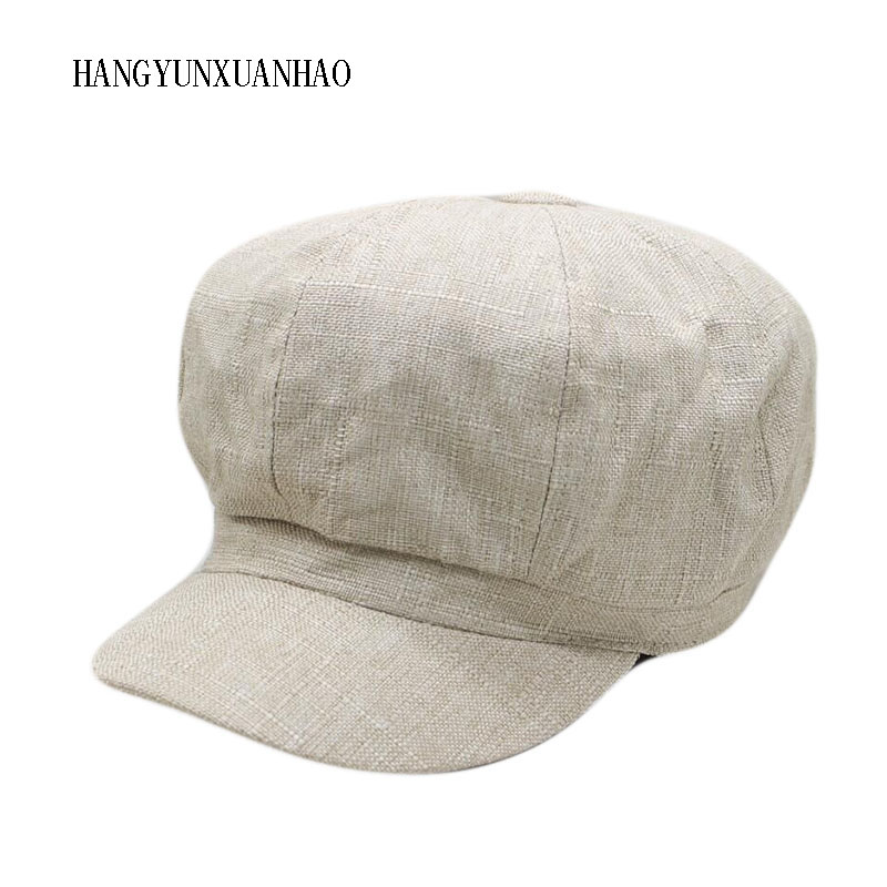 HANGYUNXUANHAO 2019 Retro Women Beret Winter Hats For Women Octagonal Hat Men Beret Hat Woman Vintage Flat Top Berets Hats