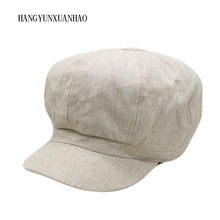 HANGYUNXUANHAO 2019 Retro Women Beret Winter Hats For Octagonal Hat Men Woman Vintage Flat Top Berets