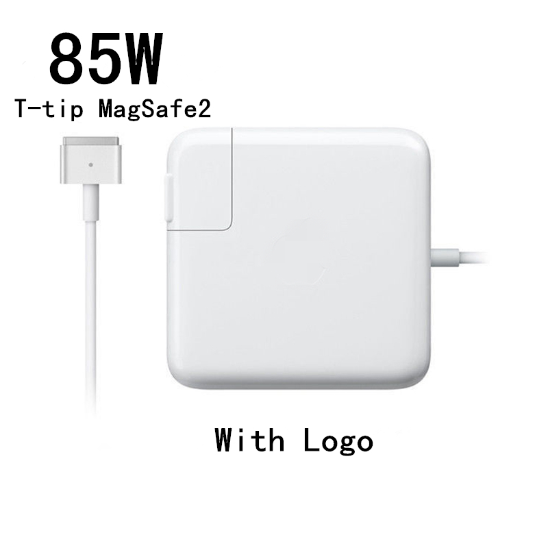Hot High Quality 85W T Tip Magsafe 2 Power Laptop Charger Adapter With Logo For MacBook
