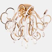 مصابيح إضاءة led بسيطة عصرية ذات طابع إبداعي لغرف المعيشة بأضواء K9 كريستالية فاخرة تعلق في السقف مصابيح غرف النوم للمطاعم