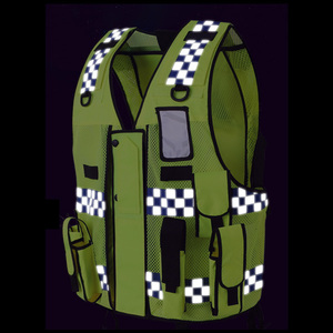 Image 5 - High visibility traffic police reflective vest with multi pockets