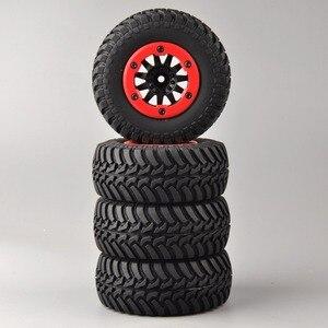 Image 4 - 4 개/대 RC 자동차 1:10 짧은 코스 트럭 타이어 TRAXXAS 슬래시 HPI 원격 제어 자동차 모델 장난감 부품에 대 한 타이어 바퀴 림 맞는 설정