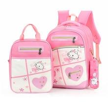 Children Schoolbags for Girls Princess 3sets Primary School Bookbags Orthopedic Waterproof Backpack Satchel Mochila Sac Enfant