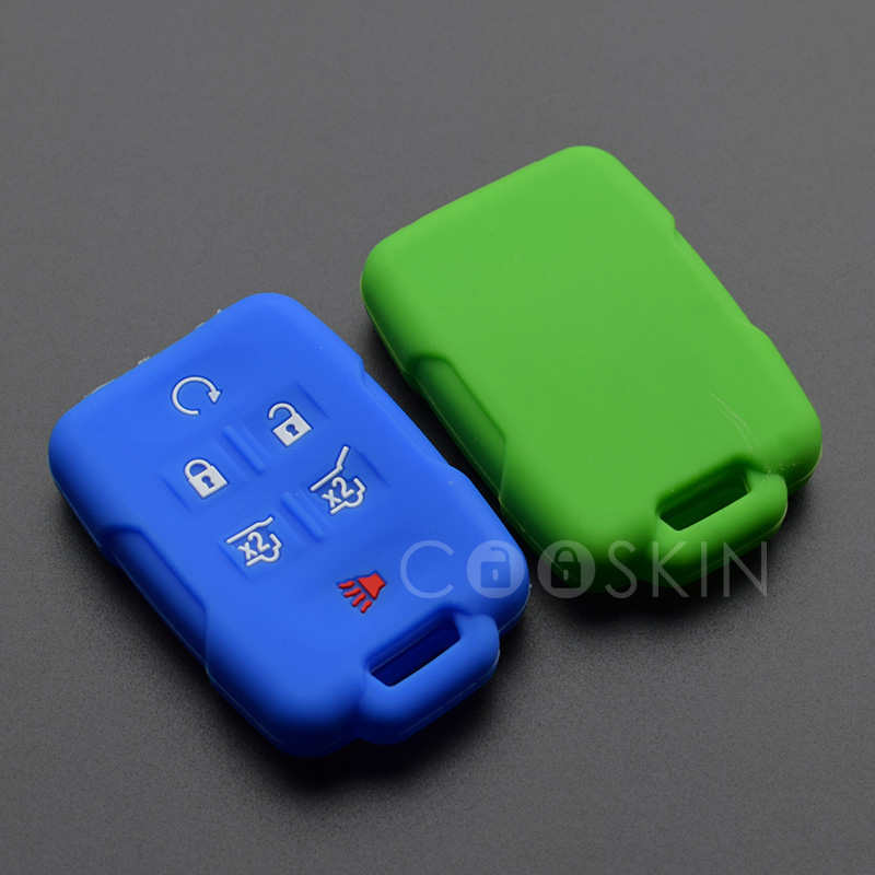 100pcs/lot Silicone rubber key FOB Adhesive Support cover Protect for GMC Yukon Sierra Canyon Terrain Acadia keyless repair-in Key Case for Car from Automobiles & Motorcycles    2