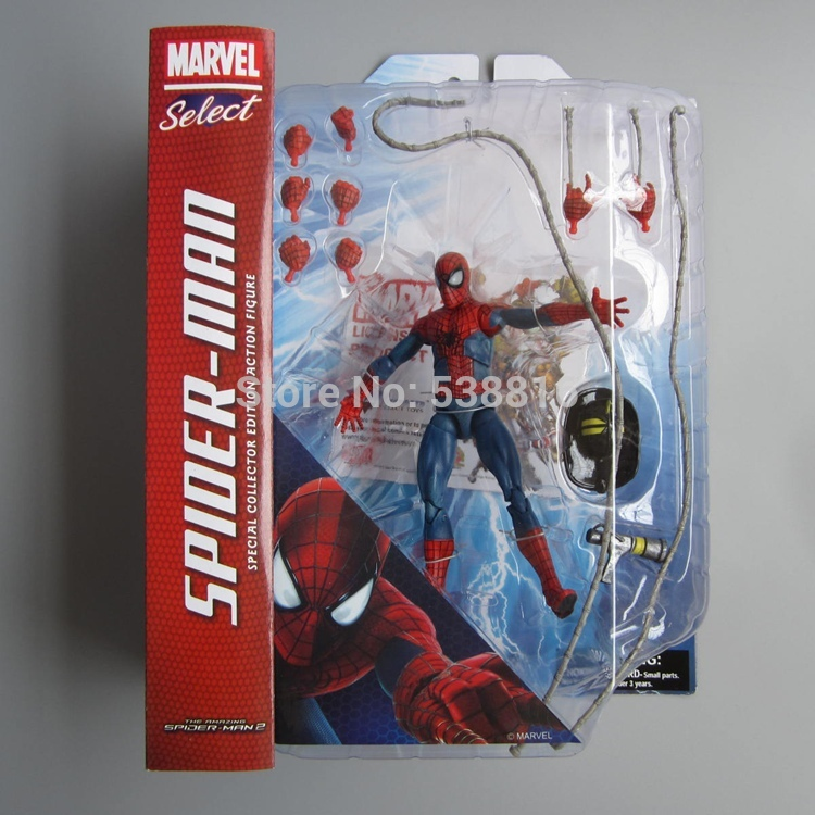 ФОТО MARVEL Select Spiderman PVC Action Figures Spider Man Boxed Collectible Toy Doll 17cm