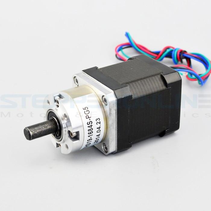 цена на Gear ratio 5:1 Planetary Gearbox stepper motor Nema 17 1.68A Geared Stepper Motor 3d printer stepper motor 17HS19-1684S-PG5