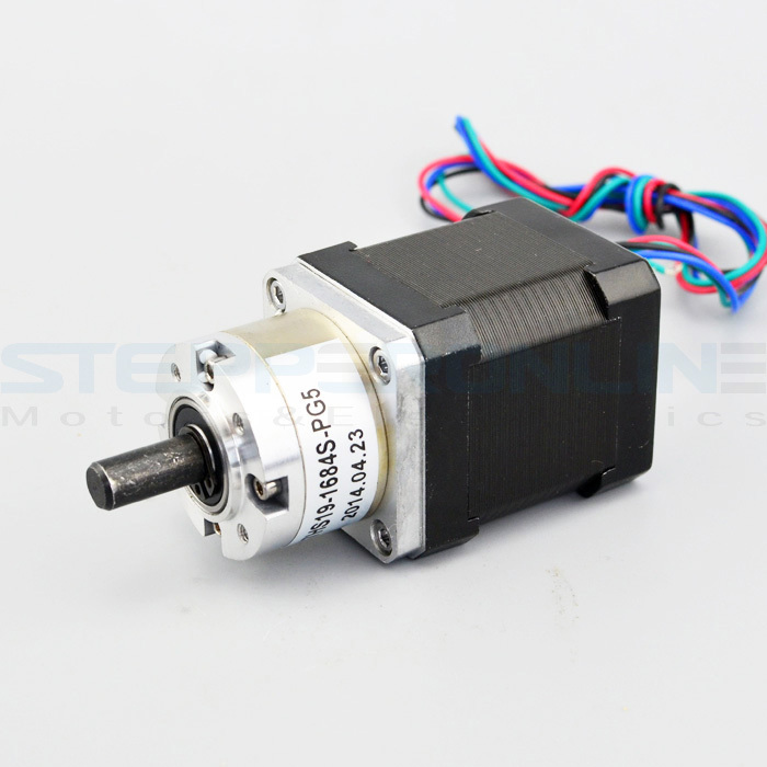 Nema 17 Geared stepper motor Gear ratio 5:1 Planetary stepper Gearbox 1.68A Bipolar Geared Stepper Motor 42.3*42.3*75.3mm nema23 geared stepping motor ratio 50 1 planetary gear stepper motor l76mm 3a 1 8nm 4leads for cnc router