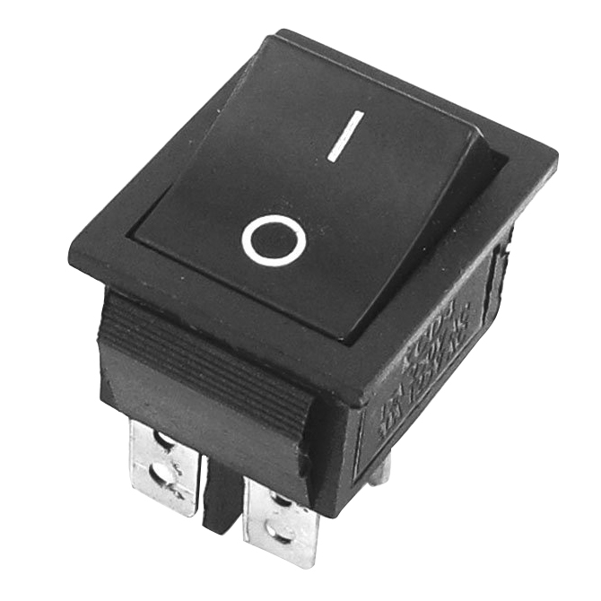 2 Pcs Black 4 Pins DPST On/Off Rocker Switch AC 250V/15A 125V/20A 250vac 15a 125vac 20a 4 pin 2 position dpst on off snap in rocker switch kcd2 201n
