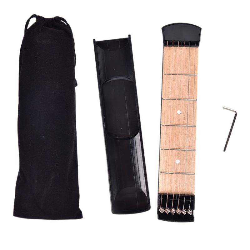 Professional 6 String 4 Fret Model Chord Conversion Guitar Noob Training with Portable Pocket Acoustic Guitar Practice Tool