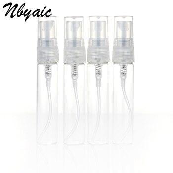 Nbyaic 5Pcs Portable Mini Perfume Bottle Glass Empty Bottle Cosmetics Bottled Toner Spray Bottle Nebulizer 2ml 3ml 5ml 10ml