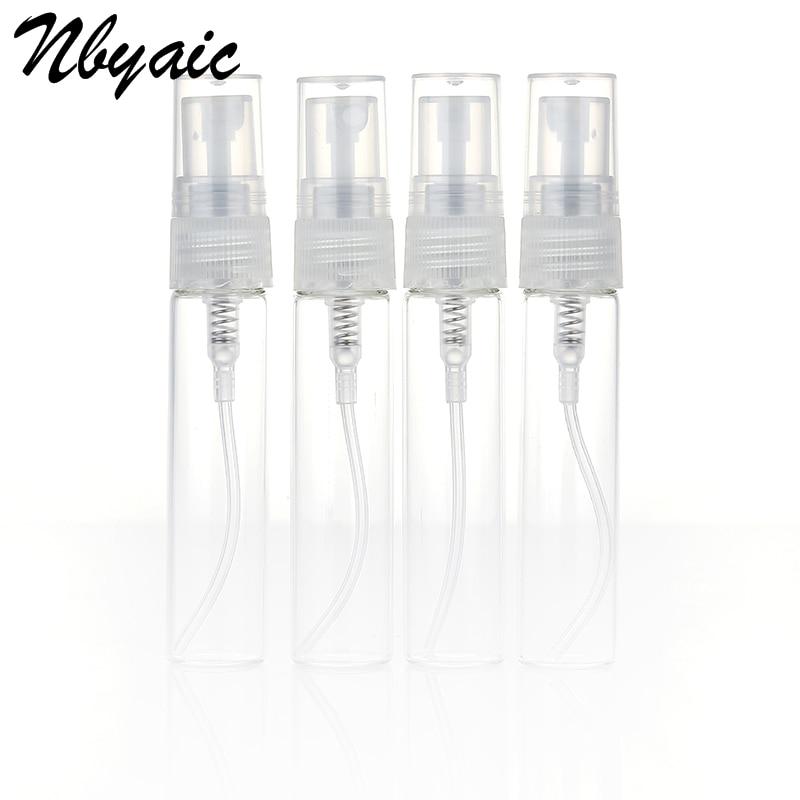Nbyaic 5 шт. портативный мини флакон для духов, пустая стеклянная бутылка, косметика, бутилированный Тонер, распылитель 2 мл 3 мл 5 мл 10 мл
