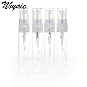 Image 1 - Nbyaic Mini botella de Perfume portátil de cristal de botella vacía, tóner embotellado, botella de Spray, nebulizador, 2ml, 3ml, 5ml, 10ml, 5 uds.