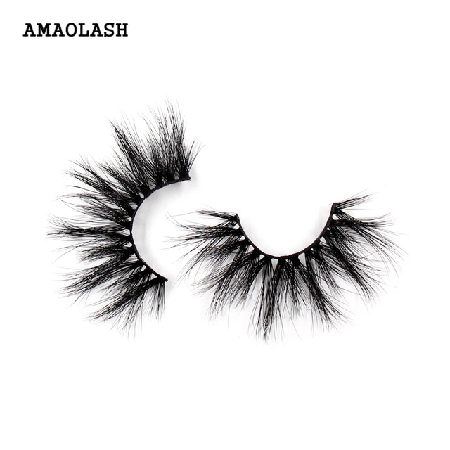 AMAOLASH Eyelashes Mink Eyelash 25mm Natural Long Thick Lashes Dramatic Fluffy Cruelty Free Criss-cross False Eyelashes Makeup