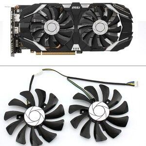 Image 1 - مروحة تبريد 85 مللي متر HA9010H12F Z 4Pin قطعة بديلة لـ MSI GTX 1060 OC 6G GTX 960 P106 100 P106 مروحة بطاقة الرسومات GPU مروحة تبريد