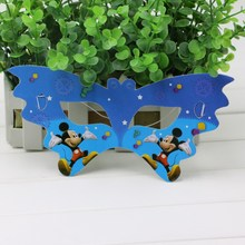 Happy Birthday Party Cartoon Mickey Mouse Mask Baby Shower Eye Cover Kids Favors Theme Decoration Eye Cover Supplies 10pcslot