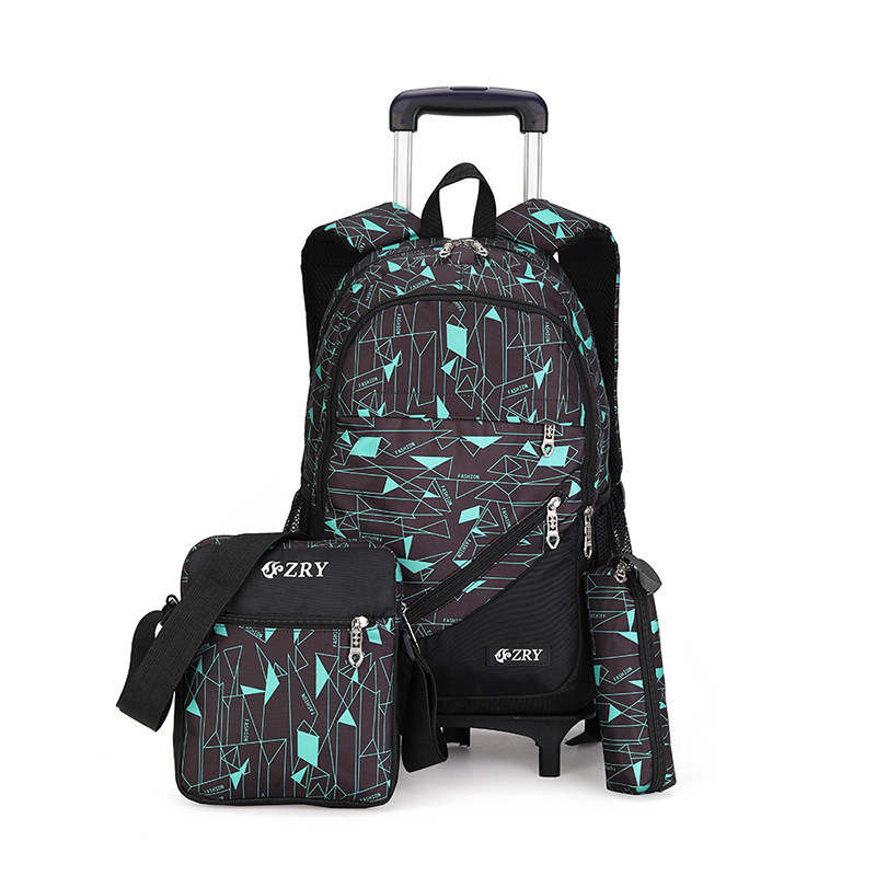 ZIRANYU Kids Trolley Schoolbag Luggage Book Bags boys girls Backpack Latest Removable Children School Bags 2