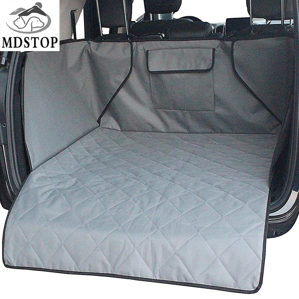 Wasserdichte Kofferraummatte Hund Haustiere Cargo-Liner Abdeckung Rutschfeste Kofferraum Schutz-rückseitige Sitzbezug Taschen für SUV Pet barriere