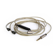 OKCSC High Quality Silver Plated Earphone Upgrade Cable for SENNHEISER IE80 IE8 IE8I  with remote control and mic цена