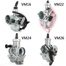 Mikuni VM16 22 24 26 карбюратор 19 мм 26 мм 28 мм 30 мм Carb для 110cc до 250cc Dirt Pit Bike CRF KLX ATV Quad Мотоцикл
