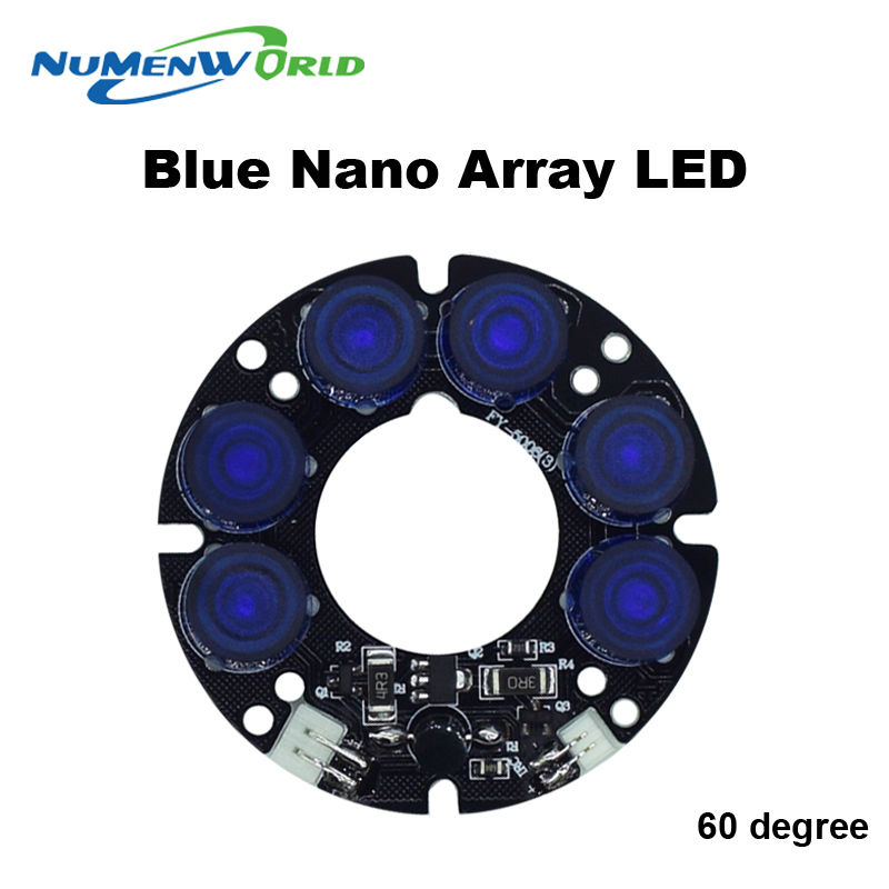 CCTV beautiful New 6 blue array LED IR Leds Infrared Board 60 degree for Security CCTV Camera 60 diameter Free Shipping cjwy 158 12v 48w 60 degree infrared array camera led light board black