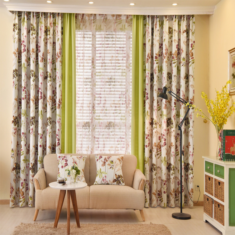 in spa window with blooms yellow htm blue button c curtain floral curtains design and grey p