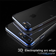 For iPhone 8 8 Plus Fitted Cases,Luxury Clear Phone Case For iPhone 7 7 Plus Soft Silicon Cover Accessories Capinha Capa