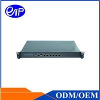 OEM VPN Firewall маршрутизатор 6 Lan 1U Intel Atom D525 AI легированной стали ROS шасси в стойку межсетевого экрана машины сервера чехол