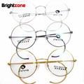 Антикварные и Винтажные Круглые Золото Серебро Серый Провод Обода Очки Оправы для очков Очки По Рецепту Rx Оптический Размер 40 мм, чтобы 50 мм