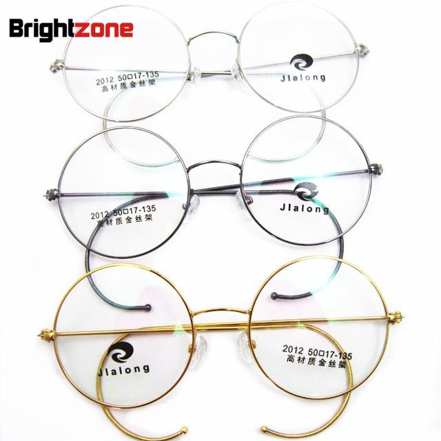 Antigüedad y de La Vendimia Redonda de Oro Gris Plata Alambre Lamer Gafas Rx Prescripción Óptica Marcos de Anteojos Gafas Tamaño de 40mm a 50mm