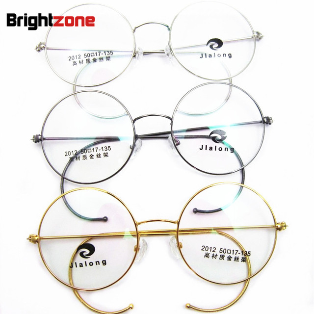 6349b0e54f8 Antique   Vintage Round Gold Silver Gray Wire Rim Glasses Rx Eyeglass  Frames Spectacles Prescription Optical