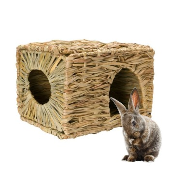 Handcraft Woven Grass Hamster Nest Small Pet Rabbit Hamster Cage House Chew Toys Foldable Pig Rat Hedgehogs Chinchilla Bed