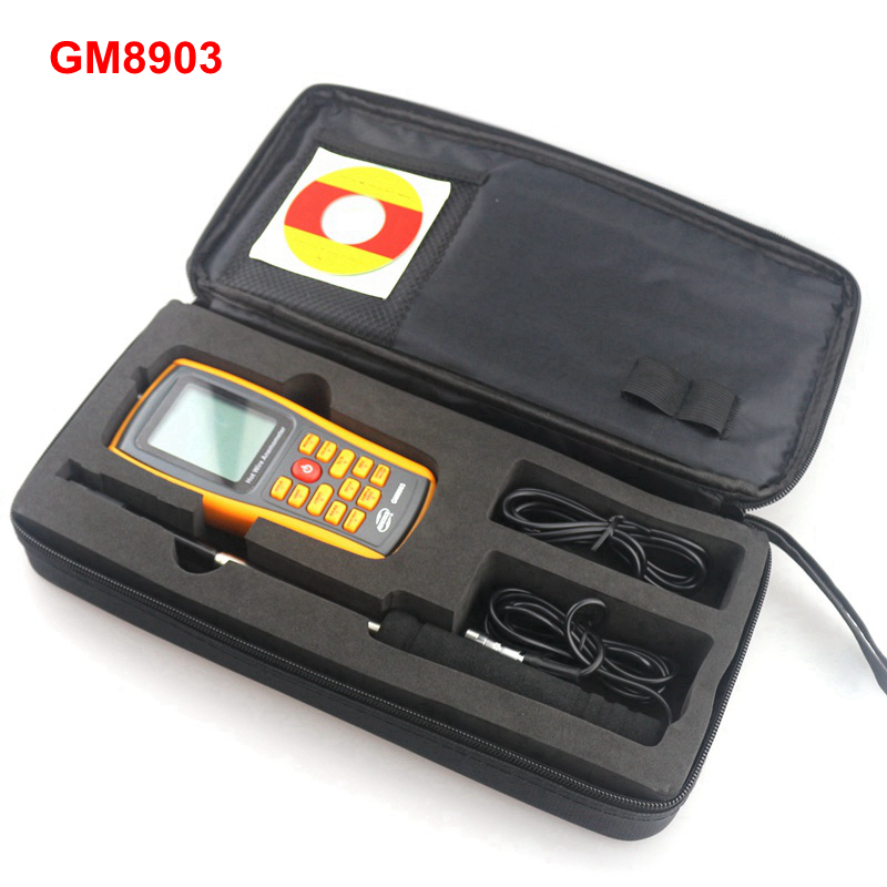 Gm8903 digital anemometer 30m/s air temperature meter 45c wind speed flow tester lcd display usb conn