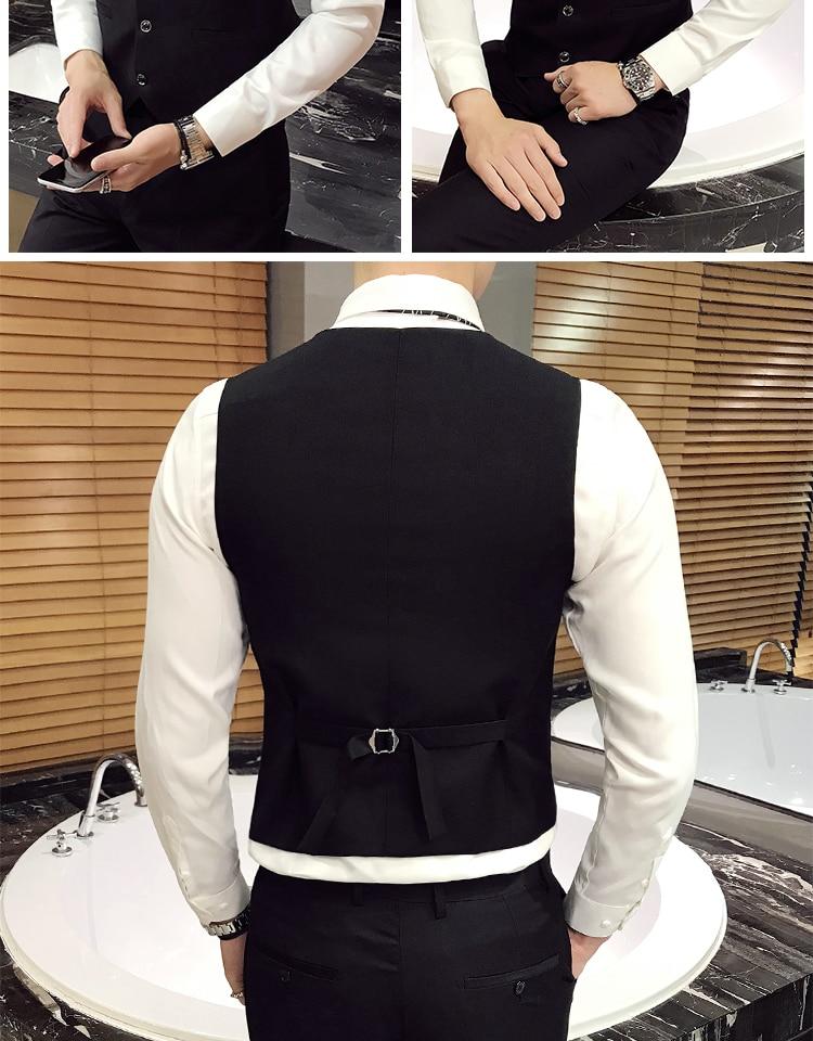 Blazers calças colete 3 peças conjuntos moda