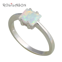 Royal Designer Wholesale & Retail Fire Opal Silver Stamped Prom party fashion jewelry Rings USA size #6.5 #7.5 OR467