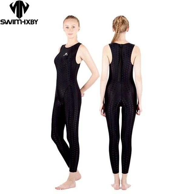 70b050370 HXBYswimsuit plus size de natação arena de swimwear mulheres maiôs de  corrida competitivo competitionshark trainning profissional