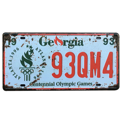 United States and Englans License Plate Style Sign