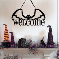 Fiesta de Halloween bienvenida calabaza murciélago decoración colgante accesorios decoraciones de fiesta decoración del hogar colgantes adornos